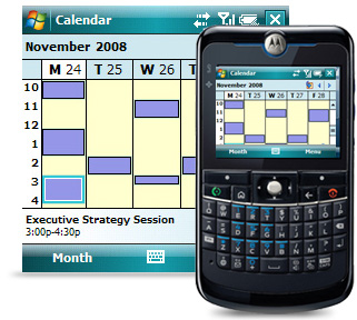 Exchange ActiveSync allows you to carry your calendar with you.
